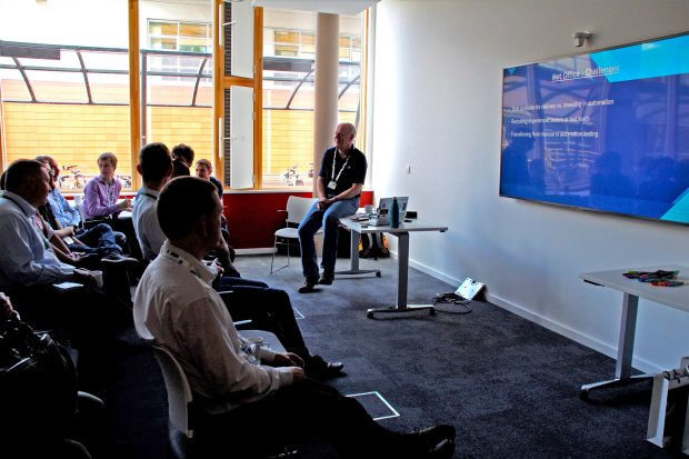 UKHO staff presenting at Software Testing Meet-up