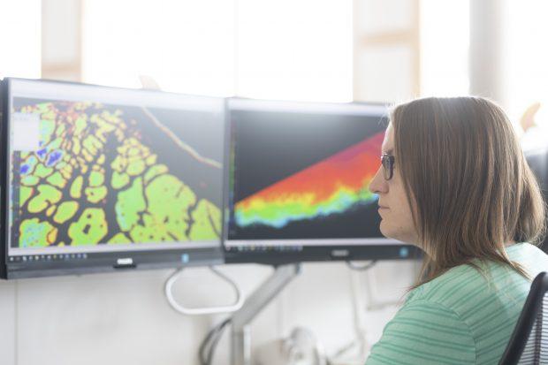 UKHO Staff analysing bathymetry data